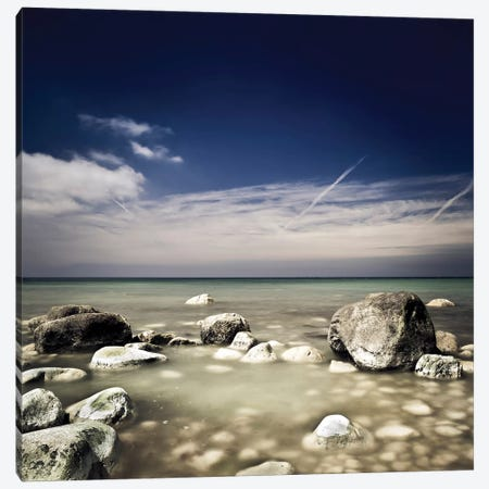 Big Boulders In The Sea, Liselund Slotspark, Denmark. Canvas Print #TRK2427} by Evgeny Kuklev Canvas Print