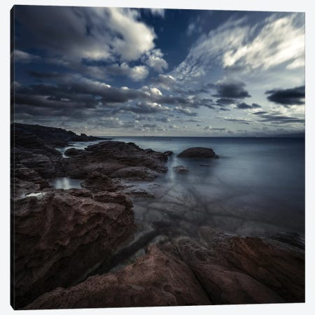 Huge Rocks On The Shore Of A Sea Against A Cloudy Sky, Sardinia, Italy. Canvas Print #TRK2443} by Evgeny Kuklev Canvas Art