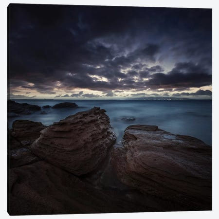 Huge Rocks On The Shore Of A Sea Against Stormy Clouds, Sardinia, Italy. Canvas Print #TRK2446} by Evgeny Kuklev Art Print