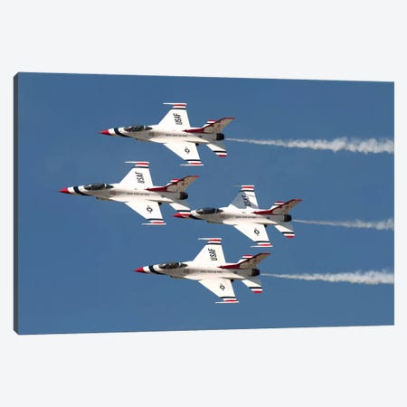 The US Air Force Thunderbirds Fly In Formation Canvas Print #TRK245} by Daniele Faccioli Canvas Art