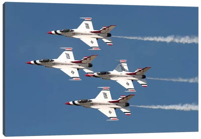 The US Air Force Thunderbirds Fly In Formation Canvas Art Print