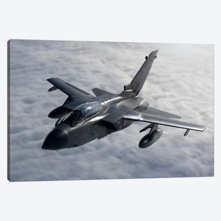 A Luftwaffe Tornado IDS Over Northern Germany Canvas Print #TRK247} by Gert Kromhout Canvas Artwork
