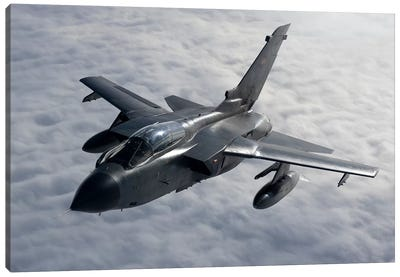 A Luftwaffe Tornado IDS Over Northern Germany Canvas Art Print