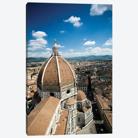 Piazza Del Duomo With Basilica Of Saint Mary Of The Flower, Florence, Italy. Canvas Print #TRK2495} by Evgeny Kuklev Canvas Artwork