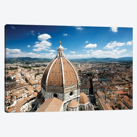 Piazza Del Duomo With Basilica Of Saint Mary Of The Flower, Florence, Italy. Canvas Print #TRK2496} by Evgeny Kuklev Canvas Art