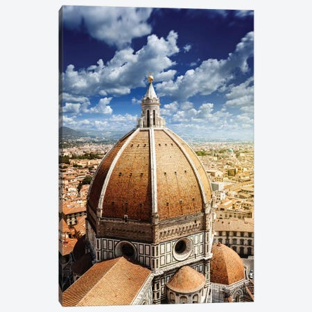 Piazza Del Duomo With Basilica Of Saint Mary Of The Flower, Florence, Italy. Canvas Print #TRK2499} by Evgeny Kuklev Canvas Art Print