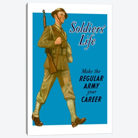 Make The Regular Army Your Career Wartime Poster Canvas Print #TRK24} by John Parrot Art Print
