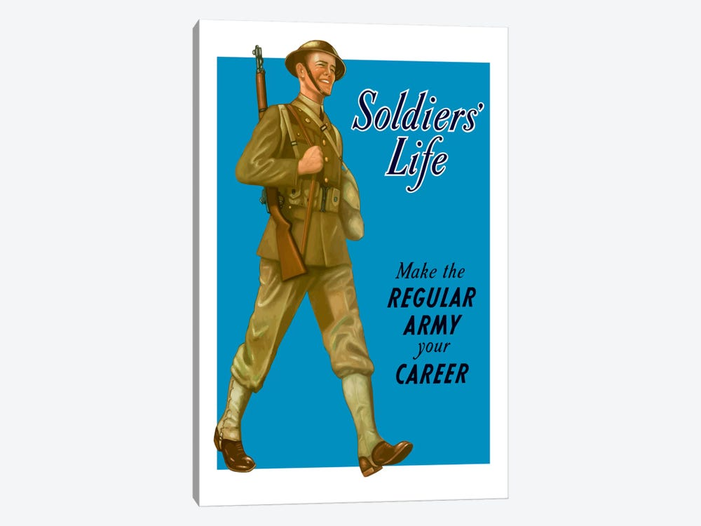 Make The Regular Army Your Career Wartime Poster by John Parrot 1-piece Art Print