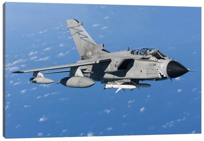An Italian Air Force Tornado IDS Armed With AGM-88 HARM missiles Canvas Art Print