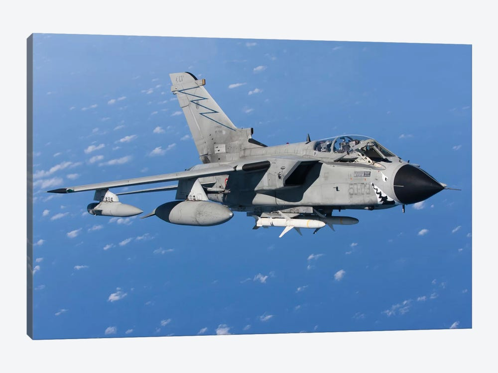 An Italian Air Force Tornado IDS Armed With AGM-88 HARM missiles by Gert Kromhout 1-piece Canvas Art