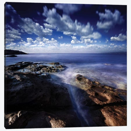 Rocky Shore And Tranquil Sea, Portoscuso, Sardinia, Italy II Canvas Print #TRK2526} by Evgeny Kuklev Canvas Art