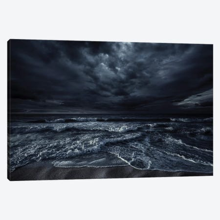 Rough Seaside Against Stormy Clouds, Hersonissos, Crete, Greece II Canvas Print #TRK2528} by Evgeny Kuklev Canvas Art Print