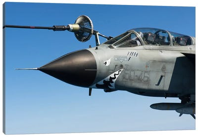An Italian Air Force Tornado IDS Conducts In-Flight Refueling Canvas Art Print
