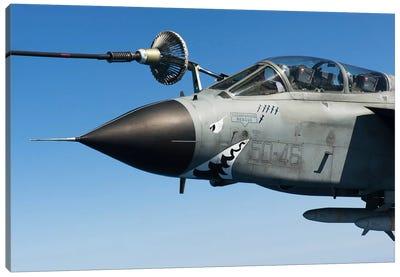 An Italian Air Force Tornado IDS Conducts In-Flight Refueling Canvas Art Print