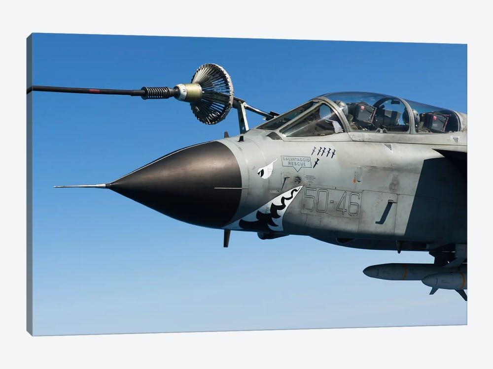 An Italian Air Force Tornado IDS Conducts In-Flight Refueling by Gert Kromhout 1-piece Canvas Print