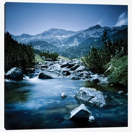 Small River Flowing Through The Mountains Of Pirin National Park, Bulgaria I Canvas Print #TRK2542} by Evgeny Kuklev Canvas Print