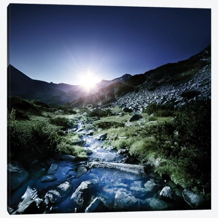 Small Stream In The Mountains At Sunset, Pirin National Park, Bulgaria Canvas Print #TRK2556} by Evgeny Kuklev Art Print