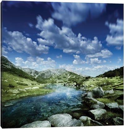 Small Stream In The Mountains Of Pirin National Park, Bansko, Bulgaria Canvas Art Print