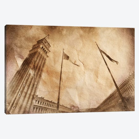 St Mark's Campanile Bell Tower In Piazzo San Marco, Venice Italy Canvas Print #TRK2558} by Evgeny Kuklev Canvas Art