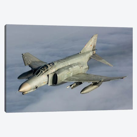 Luftwaffe F-4F Phantom II Canvas Print #TRK255} by Gert Kromhout Art Print