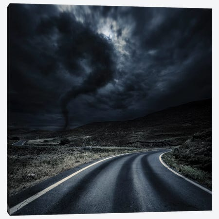 Tornado Near A Winding Road In The Mountains, Crete, Greece 3-Piece Canvas #TRK2563} by Evgeny Kuklev Canvas Print