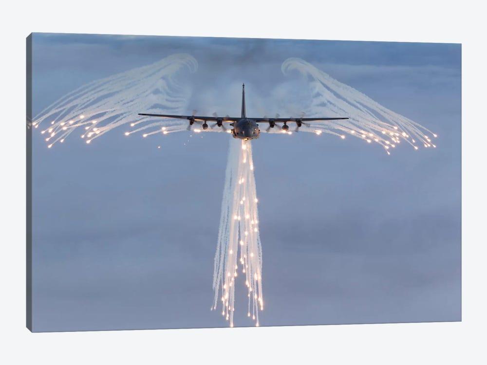 MC-130H Combat Talon Dropping Flares by Gert Kromhout 1-piece Art Print