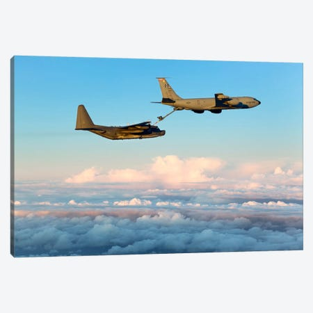 MC-130H Combat Talon II Being Refueled By A KC-135R Stratotanker Canvas Print #TRK257} by Gert Kromhout Art Print