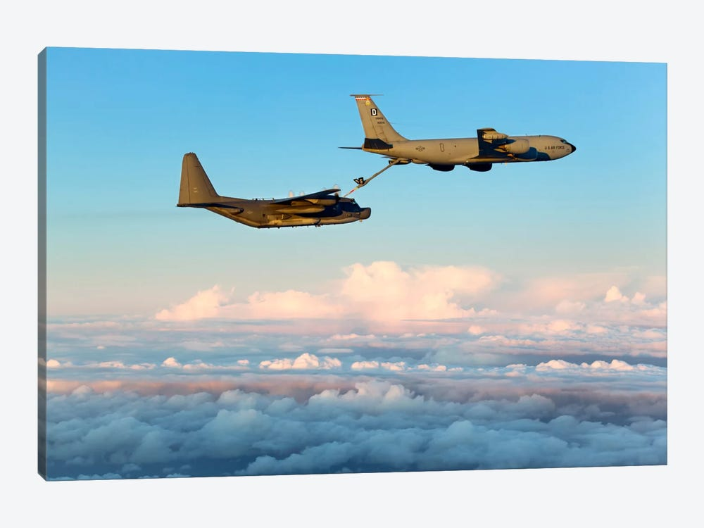 MC-130H Combat Talon II Being Refueled By A KC-135R Stratotanker by Gert Kromhout 1-piece Canvas Art