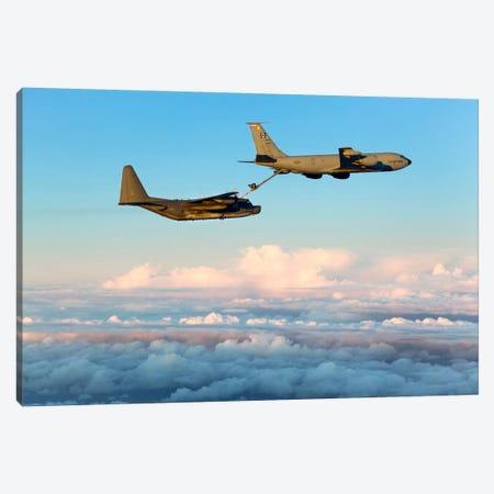 MC-130H Combat Talon II Being Refueled By A KC-135R Stratotanker Canvas Print #TRK257} by Gert Kromhout Art Print