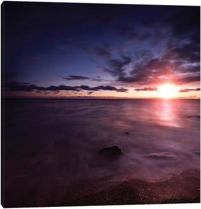 Tranquil Sea Against Moody Sky At Sunset, Gagra, Georgia I Canvas Art Print