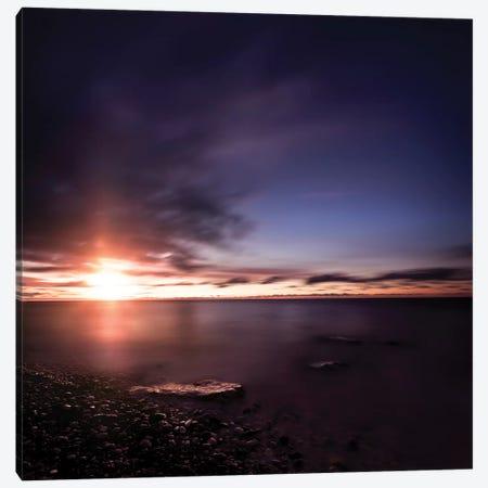 Tranquil Sea Against Moody Sky At Sunset, Gagra, Georgia II Canvas Print #TRK2583} by Evgeny Kuklev Art Print