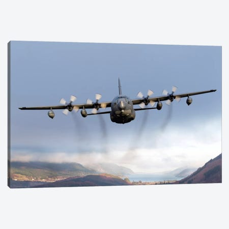 MC-130P Combat Shadow Over Scotland Canvas Print #TRK258} by Gert Kromhout Canvas Artwork