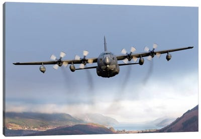 MC-130P Combat Shadow Over Scotland Canvas Art Print