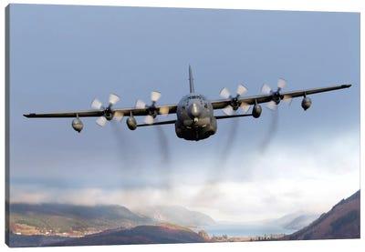 MC-130P Combat Shadow Over Scotland Canvas Art Print