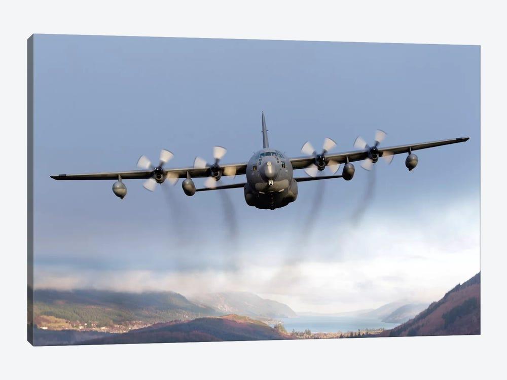 MC-130P Combat Shadow Over Scotland by Gert Kromhout 1-piece Canvas Print