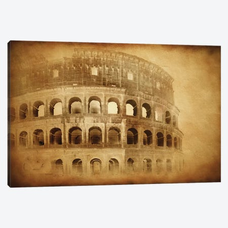 Vintage Photo Of Coliseum In Rome, Italy Canvas Print #TRK2595} by Evgeny Kuklev Art Print