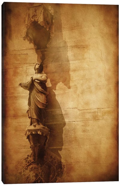 Vintage Photo Of Duomo Architecture, Milan, Italy Canvas Art Print