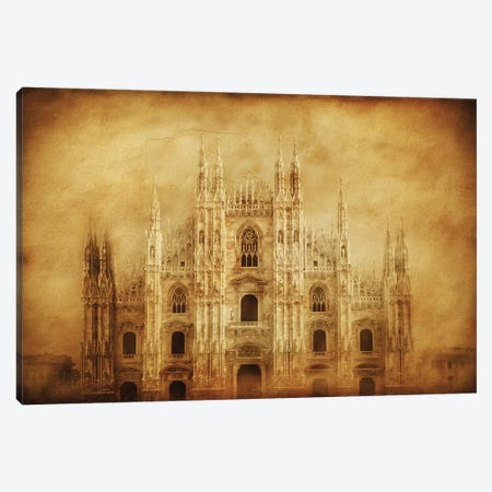 Vintage Photo Of Duomo Di Milano, Milan, Italy Canvas Print #TRK2597} by Evgeny Kuklev Canvas Art Print