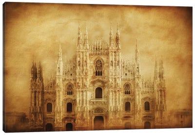 Vintage Photo Of Duomo Di Milano, Milan, Italy Canvas Art Print