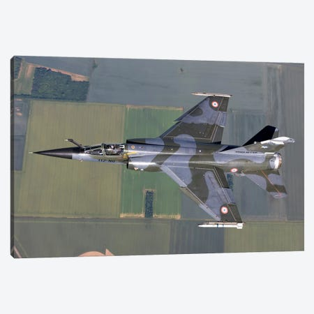 Mirage F1CR Of The French Air Force Over France Canvas Print #TRK259} by Gert Kromhout Canvas Art