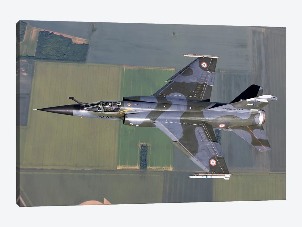 Mirage F1CR Of The French Air Force Over France by Gert Kromhout 1-piece Canvas Artwork