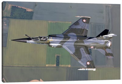 Mirage F1CR Of The French Air Force Over France Canvas Art Print
