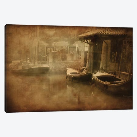Vintage Photo Of Venetian Canal, Venice, Italy I Canvas Print #TRK2601} by Evgeny Kuklev Canvas Art