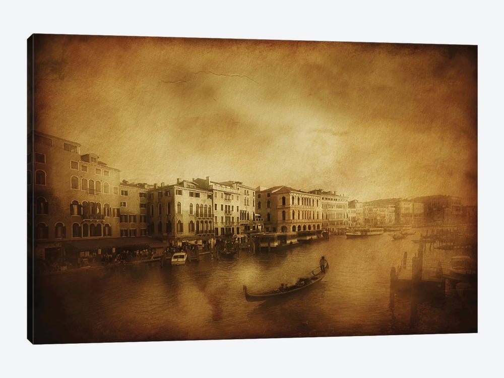 Vintage Shot Of Grand Canal, Venice, Italy by Evgeny Kuklev 1-piece Canvas Artwork