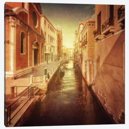 Vintage Shot Of Venetian Canal, Venice, Italy I Canvas Print #TRK2604} by Evgeny Kuklev Canvas Print