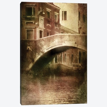 Vintage Shot Of Venetian Canal, Venice, Italy II Canvas Print #TRK2605} by Evgeny Kuklev Canvas Art Print
