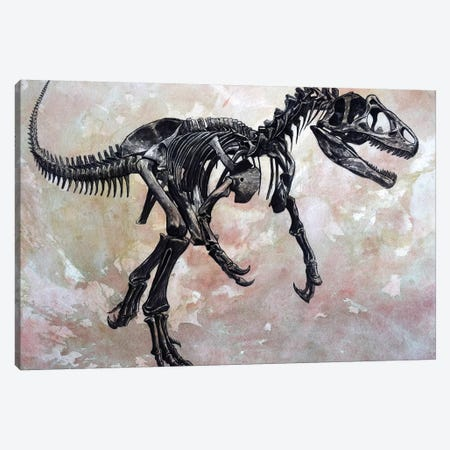 Allosaurus Dinosaur Skeleton Canvas Print #TRK2612} by Harm Plat Canvas Print