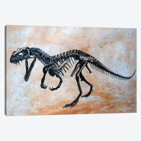 Ceratosaurus Dinosaur Skeleton Canvas Print #TRK2614} by Harm Plat Canvas Wall Art