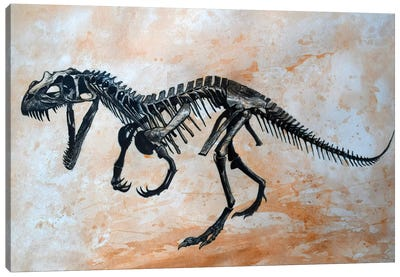 Ceratosaurus Dinosaur Skeleton Canvas Art Print