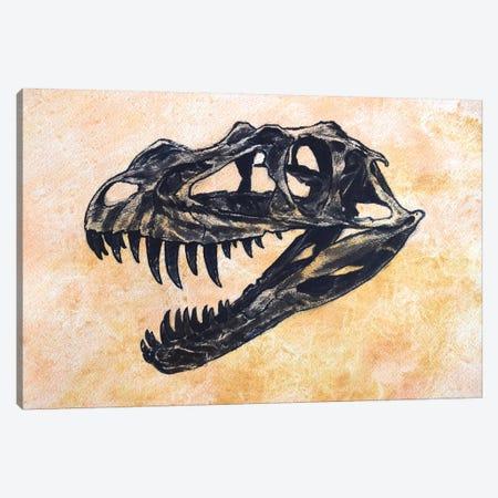Ceratosaurus Dinosaur Skull Canvas Print #TRK2615} by Harm Plat Canvas Art